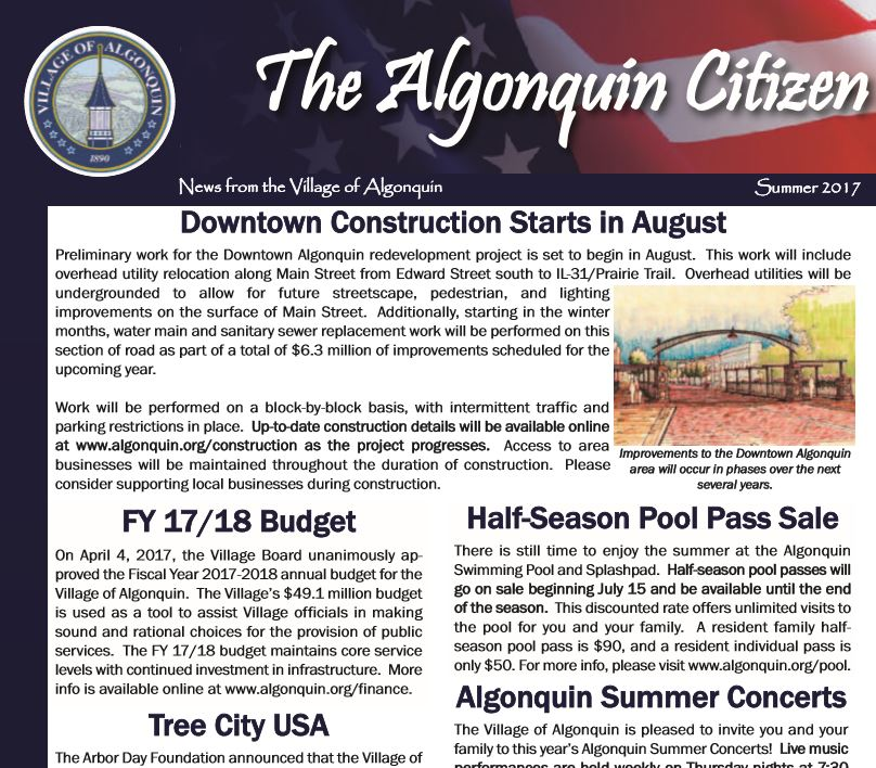 The Algonquin Citizen Summer Newsletter
