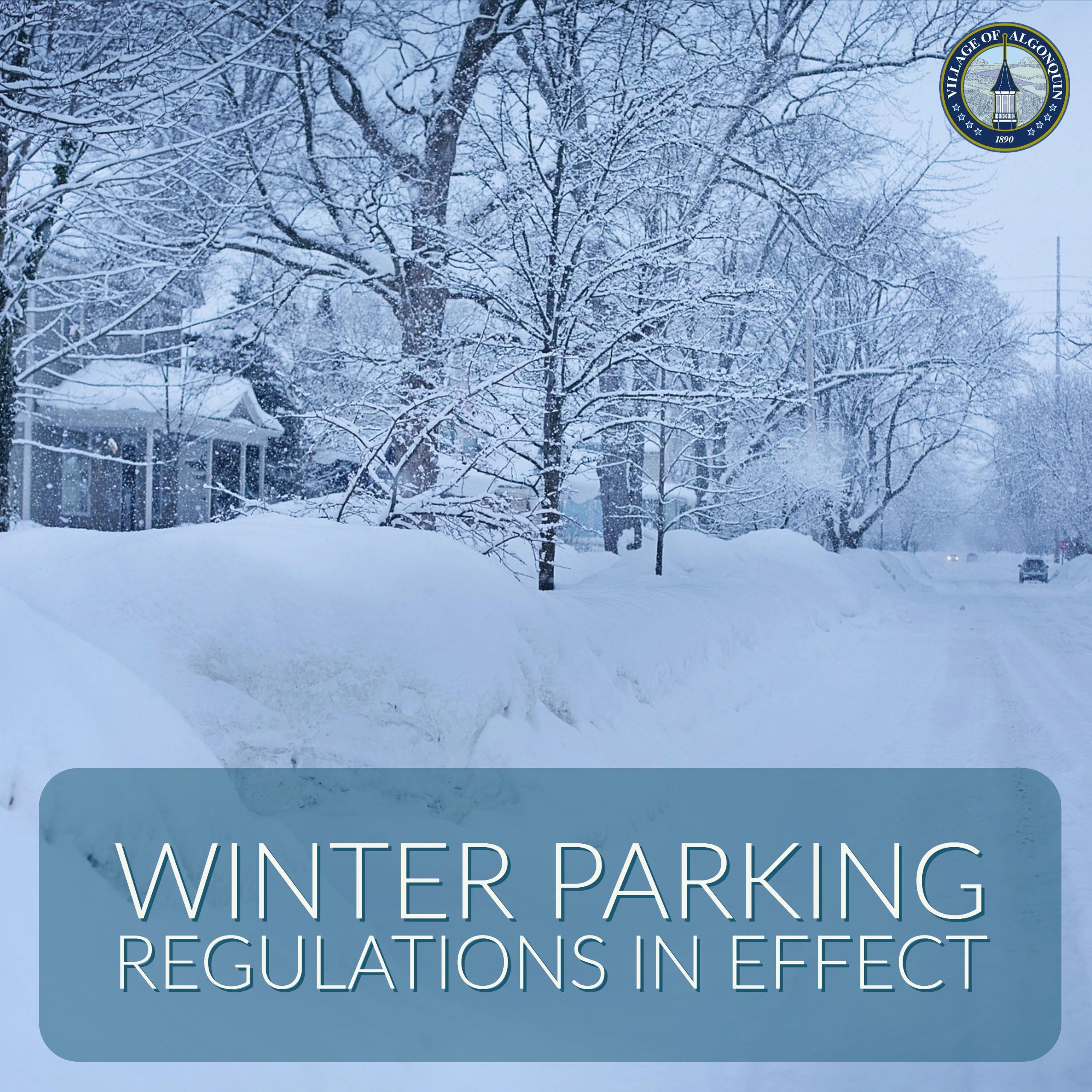 Winter Parking Regulations begin October 31