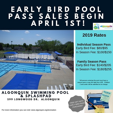 Early Bird Season Pool Passes Available Now!